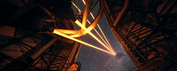 Astronomers just created the most powerful artificial star in the sky - using lasers