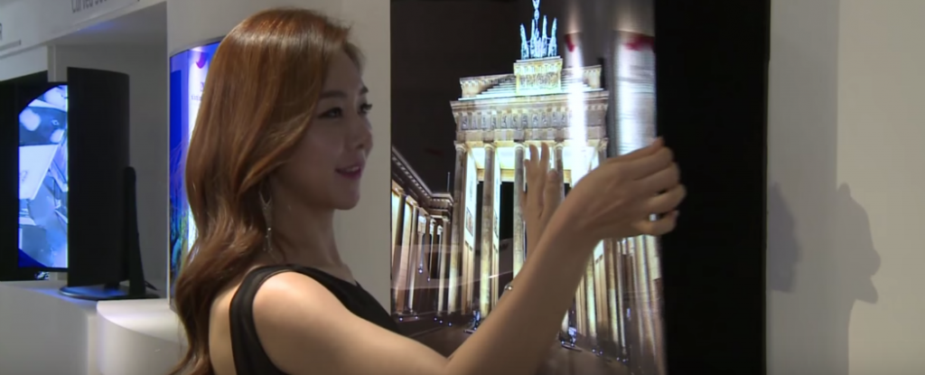 Lg Unveils Its New Flexible Paper Thin Tv