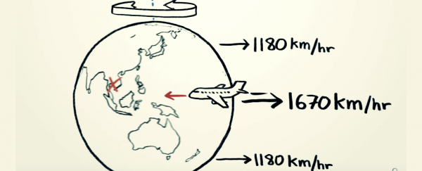 Watch: If Earth is spinning to the east, why isn't it faster to fly west?