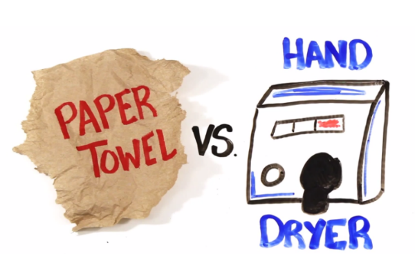 WATCH: Paper Towel vs Hand Dryers