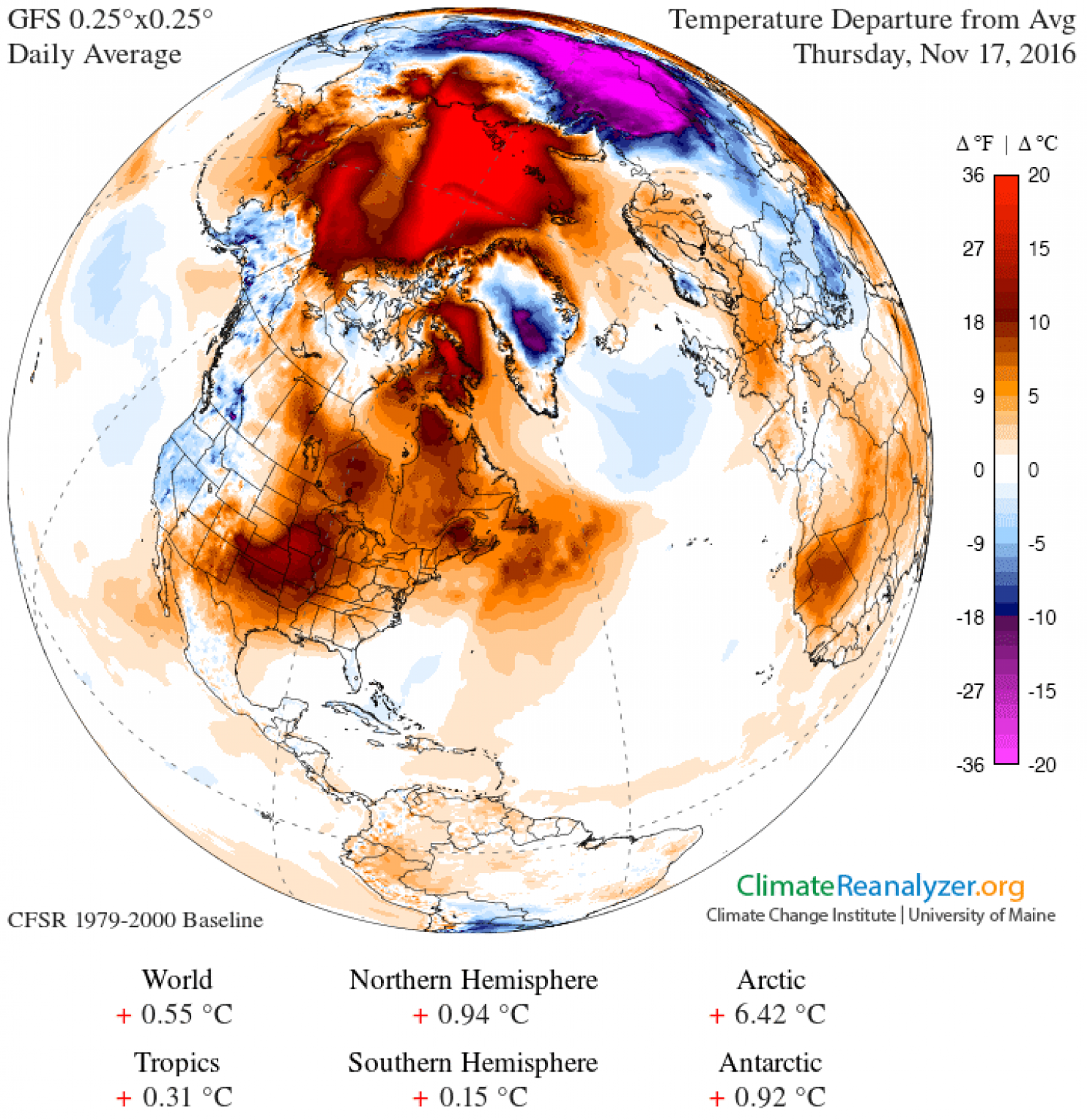 The North Pole Is 36 Degrees Hotter Than It Should Be Right Now